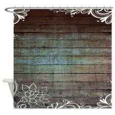 Country Themed Shower Curtains Teal Barn Wood Lace Western Country Shower Curtain On Cafepress