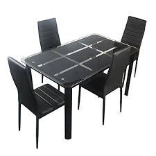black contemporary dining table glass top modern dining table review