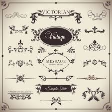 vintage ornaments with floral elements vector free