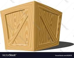 wooden box royalty free vector image vectorstock