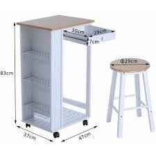 table d appoint cuisine chariot desserte de cuisine sur roulettes table de bar d appoint