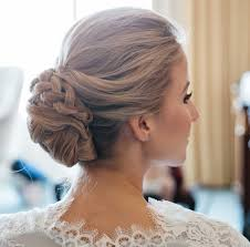 wedding hairstyle and perfect combination with the bridal dress