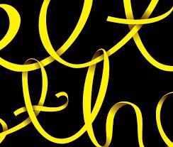 black and yellow ribbon black yellow ribbon black yellow yellow black