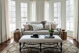 Grey Linen Sofa by Gray Linen Sofa Transitional Bedroom Andrea Goldman Design