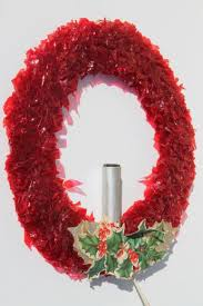 decorations cellophane chenille velvet wreaths w