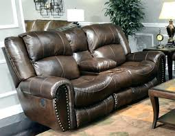 loveseat leather reclining loveseat with center console