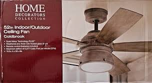 weathered gray ceiling fan with light upc 887912897658 52 in 5 wood blades indoor outdoor weathered gray