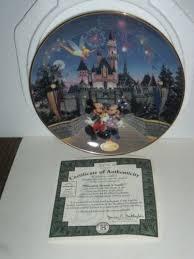 40th anniversary plate bradford exchange sleeping beautys castle disneylands 40th