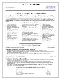 Resume Sample Format Microsoft Word by Winning Free Construction Project Manager Resume Template Sample