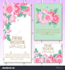 Wedding Invitation Cards Wedding Invitation Cards Floral Elements Stock Vector 343783088