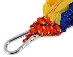 portable parachute nylon fabric hammock for indoor outdoor use