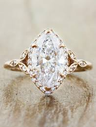 gold metal rings images Rachael oval diamond rose gold engagement ring ken dana design jpg