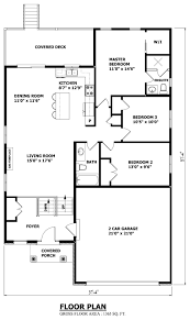 Bungalows Floor Plans by House Plans Canada Stock Custom