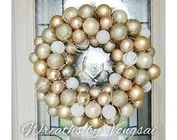 ornament wreath etsy