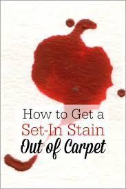 getting a set in stain out of carpet the humbled homemaker