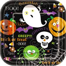 halloween tableware halloween paper plates halloween wikii