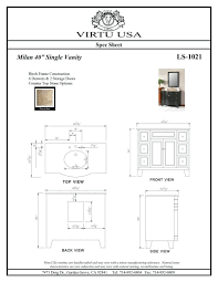 standard bathroom cabinet dimensions