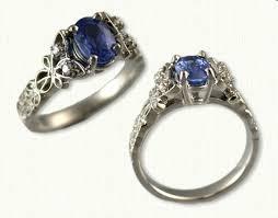 blue butterfly rings images Celtic butterly love knot engagement rings custom celtic jpg
