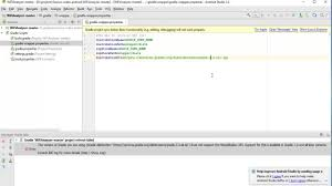 android api versions error the version of gradle you are using does not support the