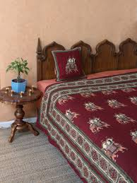red burgundy bedding curtains and table linen royal elephant