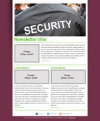 newsletter templates for security firms