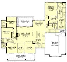 2500 Square Feet Floor Plans by House Plan 62207 At Familyhomeplans Com Farmhouse Floor Plans With