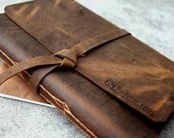 large leather photo album leather photo album etsy