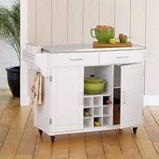 White Kitchen Island With Stainless Steel Top Sandra By Sandra Lee Kitchen Cart Granite Top 169 Furniture
