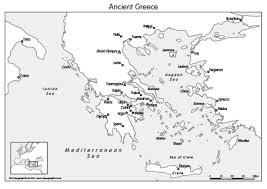 blank map of ancient greece ancient greece map set of 4 0 99 cosmographics ltd