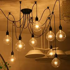 Edison Pendant Light Fixture Vintage E27 Edison Pendant Ceiling Light Chandelier Roof