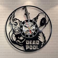 amazing wall clocks deadpool shot wall clock vinylevolution com uavinylevolution com ua