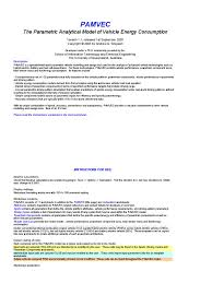 pamvec 1 fuel economy in automobiles transmission mechanics