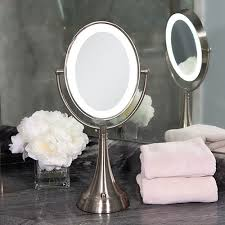 zadro lighted makeup mirror dual sided led lighted oval magnifying vanity mirror buy now