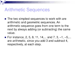 ppt 13 1 arithmetic and geometric sequences powerpoint