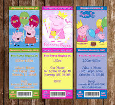 novel concept designs peppa pig show birthday party ticket