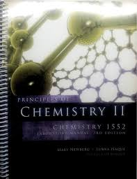 principles of chemistry ii lab manual chemistry 1552 college of