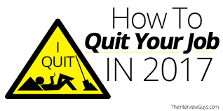 how to quit your job in 2017