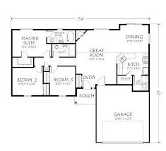 Large Bungalow Floor Plans 1st Level Small And Affordable Bungalow House Plan Open Floor