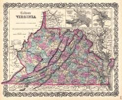 State Of Virginia Map by Virginia State Map 1855 The Date On This Map Is 1855 But U2026 Flickr