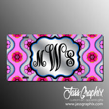 monogrammed plate monogrammed license plates personalized monogram car tags