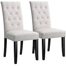 amazon com langria modern faux linen upholstered high back