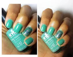 notd nyc long wearing nail polish in tudor city teal and starry