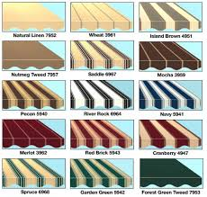 Sunsetter Awnings Fabric Options For Sunsetter Awnings In Portland Oregon