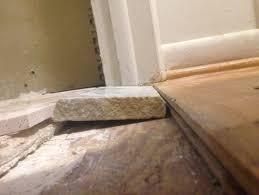 Tile Threshold Between Bathroom And Hardwood Floor  Reducer - Bathroom door threshold 2