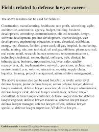 Lawyer Resume Examples by Top 8 Defense Lawyer Resume Samples