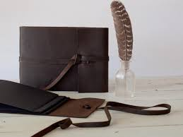 rustic leather photo album leather photo album guest book hybrid with black pages