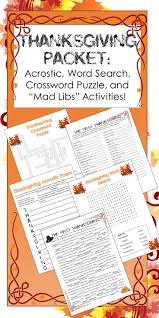 elementary thanksgiving activities 70 best teacherspayteachers images on pinterest crossword