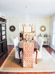 orange and gold dining room emily mccarthy