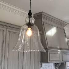 Kitchen Hanging Lights by Kitchen Decoration Bulb Large Glass Pendant Lights Sample Inside