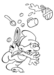 clumsy smurf from smurfs the lost village colouring page get